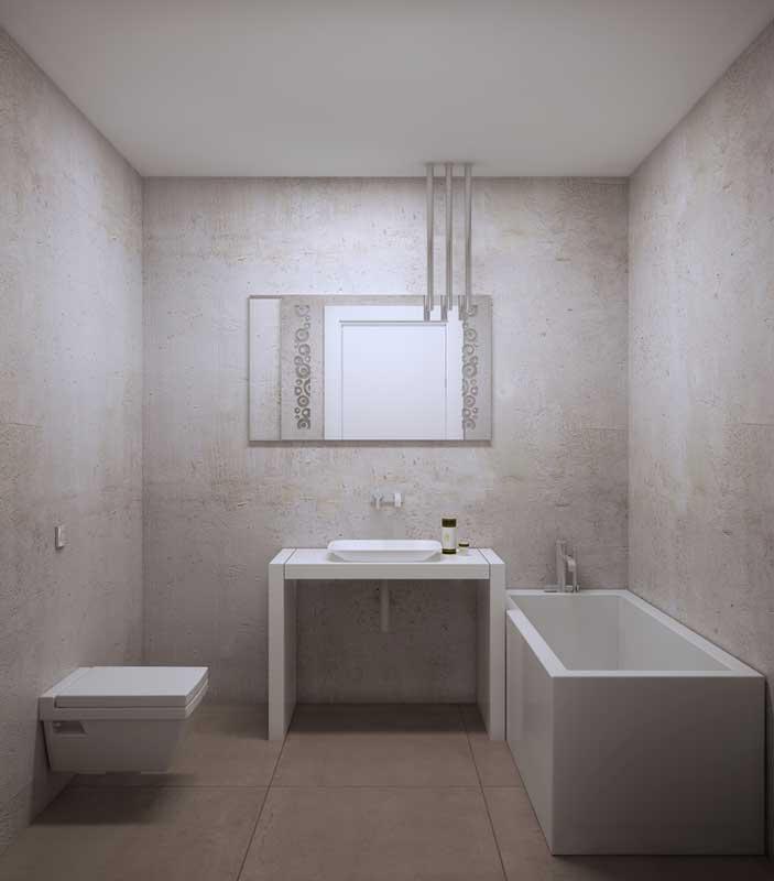 Clean en stijlvolle badkamer