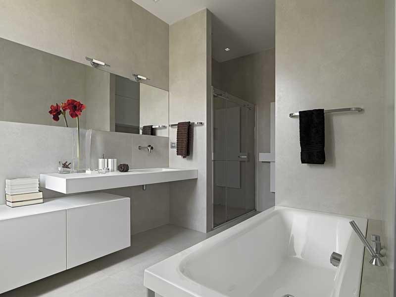 Een strakke badkamer