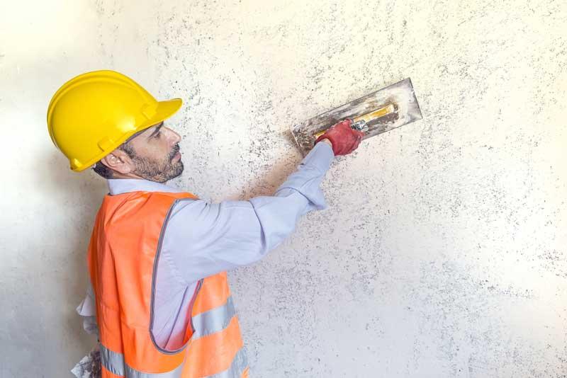 Wand afwerking door een stukadoorsbedrijf